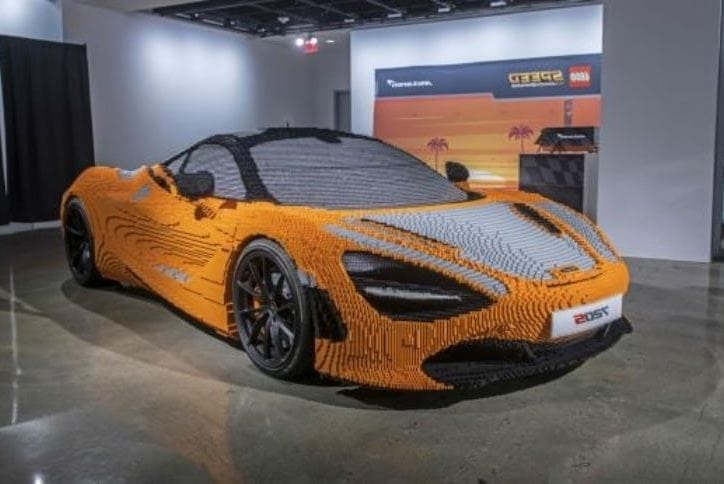 McLaren 720S made out of LEGOs